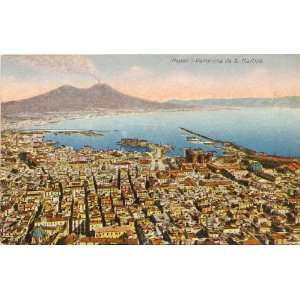 Postcard Panoramic View of the Bay   Naples Italy