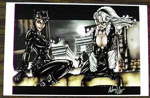 CATWOMAN / BLACK CAT LIMITED EDITION LITHOGRAPH PRINT   SIGNED