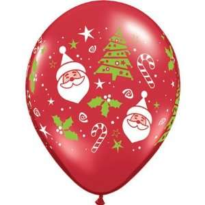 11 Santa & Christmas Tree Around Balloons (100 ct) (100