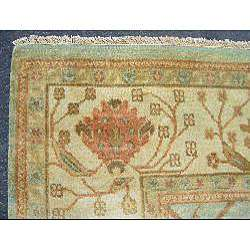 Vegetable dyed Light Green/ Ivory Rug (91 x 12)