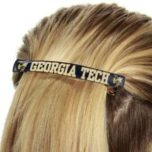 Georgia Tech Yellow Jackets Ladies Navy Blue Team Logo Jumbo Barrette