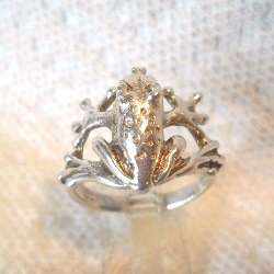 Tree Frog Ring   Sterling Silver   Cute Design   NEW