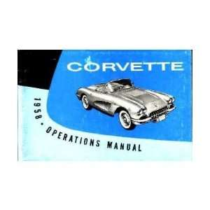 1958 CHEVROLET CORVETTE Owners Manual User Guide