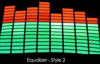 Light Up LED Sound Activated Flashing Equalizer T SHIRT