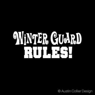 WINTER GUARD RULES Vinyl Decal Car Laptop Sticker
