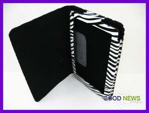 for  Kindle Fire   Black & White Zebra Leather Protective Case