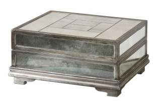 MODERN Decorative Mirror JEWELRY BOX Mirrored Silver