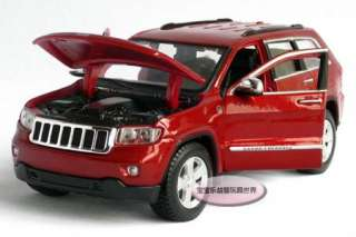 New JEEP Cherokee 124 Alloy Diecast Model Car With Box Red B515