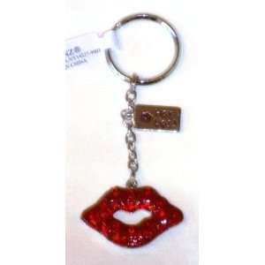 Red Lips Key Ring with Hot Lips Charm
