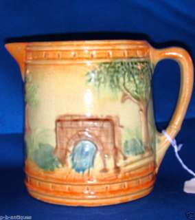 Vintage Roseville Pottery Yellow Ware Pitcher
