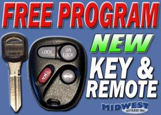 2001 2002 01 02 CHEVY IMPALA KEY + KEYLESS ENTRY REMOTE