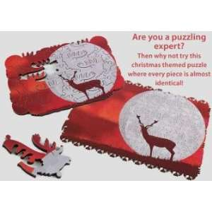 Recurring Rudolph 234 Piece Wooden Jigsaw Puzzle Toys & Games