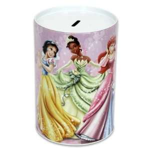 Disney Princess Light Purple Jumbo Round Tin Savings Bank