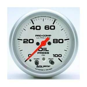 PSI Full Sweep Electric Oil Pressure Gauge with Peak Memory & Warning