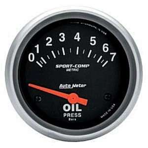 Meter 3522 M 2 5/8 0 7 Bars Short Sweep Electric Oil Pressure Gauge