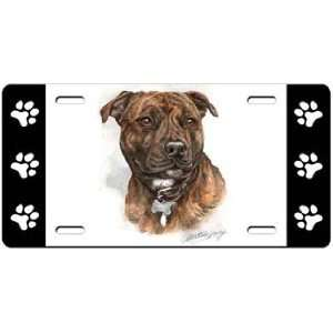 Staffordshire Bull Terrier License Plate  Sports