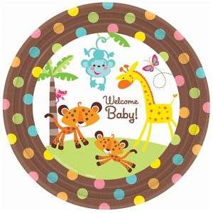 FISHER PRICE Jungle Baby Shower Party Supply Dlx Set 8