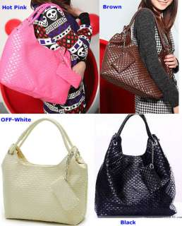 Korean Style Lady Girls Hobo PU Leather Handbag Purse Shoulder Bag