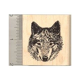 Timber Wolf Rubber Stamp   Wood Mounted
