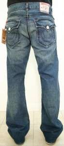 NEW TRUE RELIGION Mens Jeans Ricky Big T LOADED GUN size 32/34