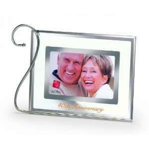 Russ 40th Anniversary Glass Frame, 4 by 6 Inch