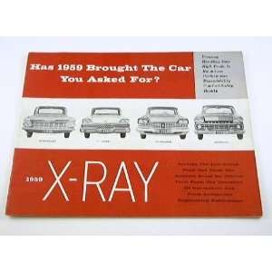 1959 59 RAMBLER X RAY BROCHURE Chevrolet Ford Plymouth