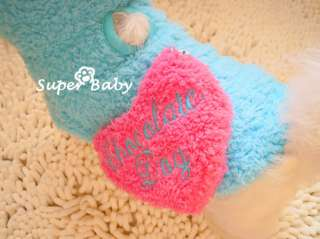 Love Heart With Snacks BAG DOG Clothes Hoodie COAT XS,S,M,L