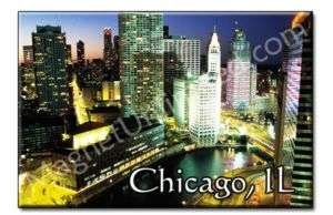 Skyline Downtown CHICAGO   IL Souvenir Fridge Magnet #3