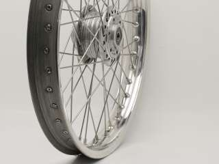 21 Wheel, Morad/Akront Alloy Rim, 21 x 1.85, 40 Stainless Butted