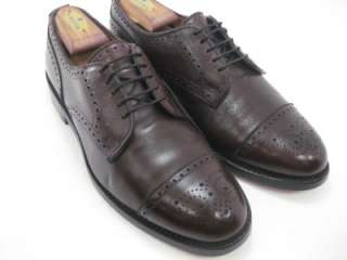 Allen Edmonds LEXINGTON Burgundy Cap Toe Dress Shoe 9.5 D Medium