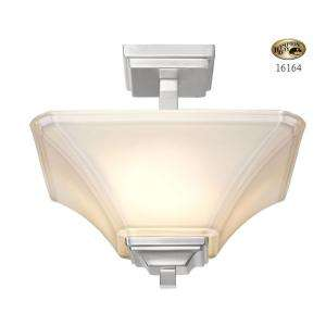 Hampton Bay Nove 2 Light Brushed Nickel Semi Flush Mount 16164 at The