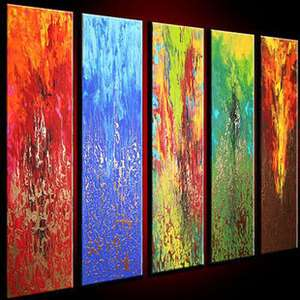 Modern Abstract Huge Wall Art Oil Painting On Canvas 030