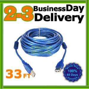 PC USB A Male to Female Extension Cable Cord 33 FT 10 m