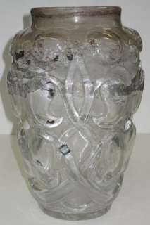 Art Deco Molded Glass Vase by Verrerie d Art Degue