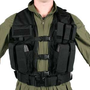BLACKHAWK URBAN ASSAULT VEST BLACK 33UA00BK POLICE SWAT