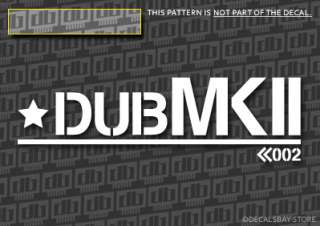 NEW VW DUB MK2 ARMY vinyl Decals Stickers (6)