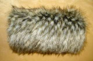 FOX SUPER SOFT LUXURIOUS FAUX FUR MUFF HAND WARMER NEW