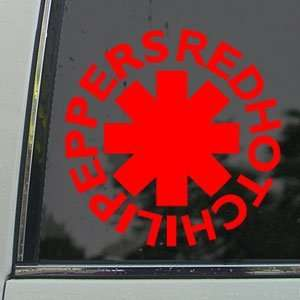 RED HOT CHILI PEPPERS Red Decal Truck Window Red Sticker