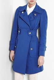 Sonia by Sonia Rykiel  Blue Cotton Stretch Double Breasted Coat by