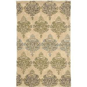 Collection Tan & Green 26 x 8 Runner Area Rug