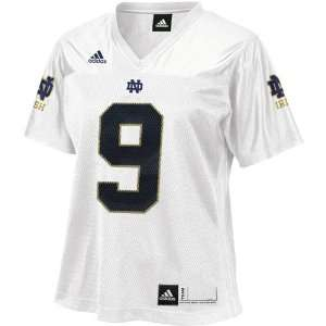 adidas Notre Dame Fighting Irish #9 Ladies White Replica Football