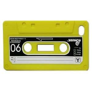 Yellow Cassette Tape Style Design Soft Silicone Skin Gel Cover Case