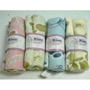 4 Baby Blankets With Rabbit Prints Baby