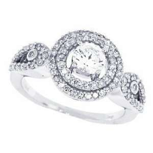 0.52ct Round Cut Diamond Engagement Wedding Semi mount