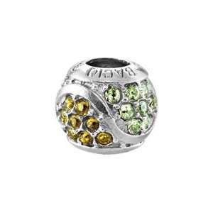 Bacio Italian Swarovski Bead Wave Swarovski Crystal Crafted Green