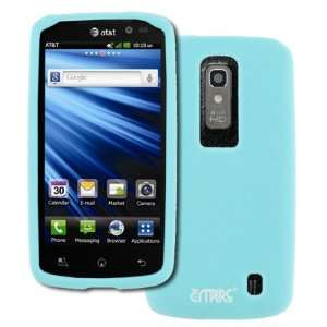EMPIRE AT&T LG Nitro HD Light Blue Silicone Skin Case