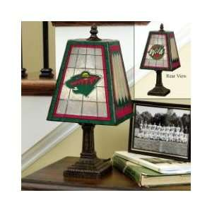 MINNESOTA WILD Team Logo Hand Painted ART GLASS TABLE LAMP