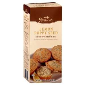 Meijer Naturals Lemon Poppy Seed Muffin Mix   8 Packages (18 oz ea