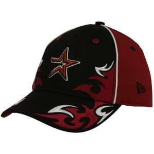 New Era Houston Astros Youth Brick Red Black Team Ink Adjustable Hat