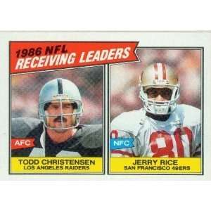 1987 Topps Football Record Breaker & NFL Leaders Subset . . . 13 Card